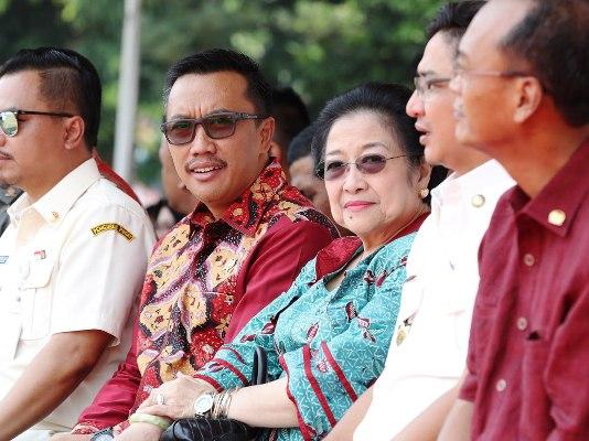 Photo of Ada Megawati di Apel Kebangsaan Purna Paskibraka Indonesia