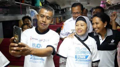 Photo of Ke Stasiun PS Senen, Menteri BUMN Lepas Keberangkatan Peserta Mudik Gratis PT KAI