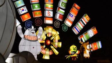Photo of Pertama dan Terbesar, Gemerlap Lampion Asian Games di Pantai Festival Ancol