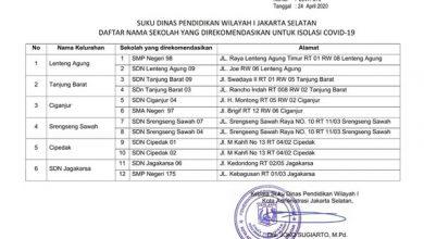 Photo of Fraksi NasDem DPRD DKI Tolak Usulan Sekolah sebagai Tempat Karantina Pasien Terinfeksi Covid-19