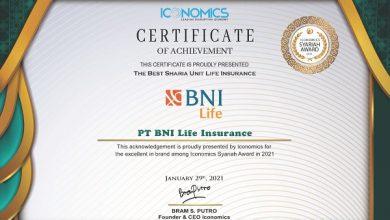 Photo of BNI Life Raih Penghargaan Asuransi Syariah Terbaik