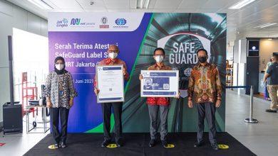 """Photo of Konsisten Terapkan Prokes, MRT Raih Label """"safeguard"""" dari SIBV"""