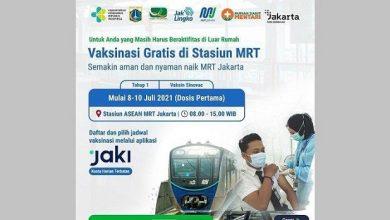 Photo of Gelar Kolaborasi dengan Dinkes DKI PT MRT Jakarta Gelar Vaksin COVID-19 di Stasiun MRT ASEAN