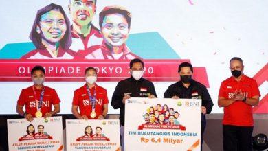 Photo of BNI Hadirkan Apresiasi Rp6,4 Miliar ke Kontingen Bulu Tangkis Olimpiade Tokyo