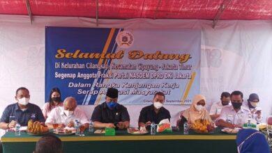 Photo of Fraksi NasDem DPRD DKI Tuai Pujian Usai Serap Aspirasi Masyarakat di Kelurahan Cilangkap
