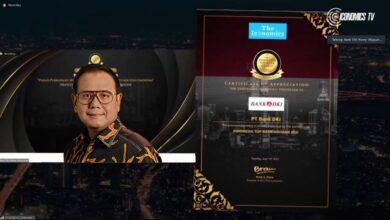 Photo of Rajin Sinergi dan Kolaborasi, Bank DKI Raih Indonesia Top Bank Awards 2021